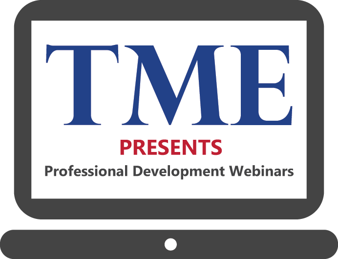 TME presents professional development webinars