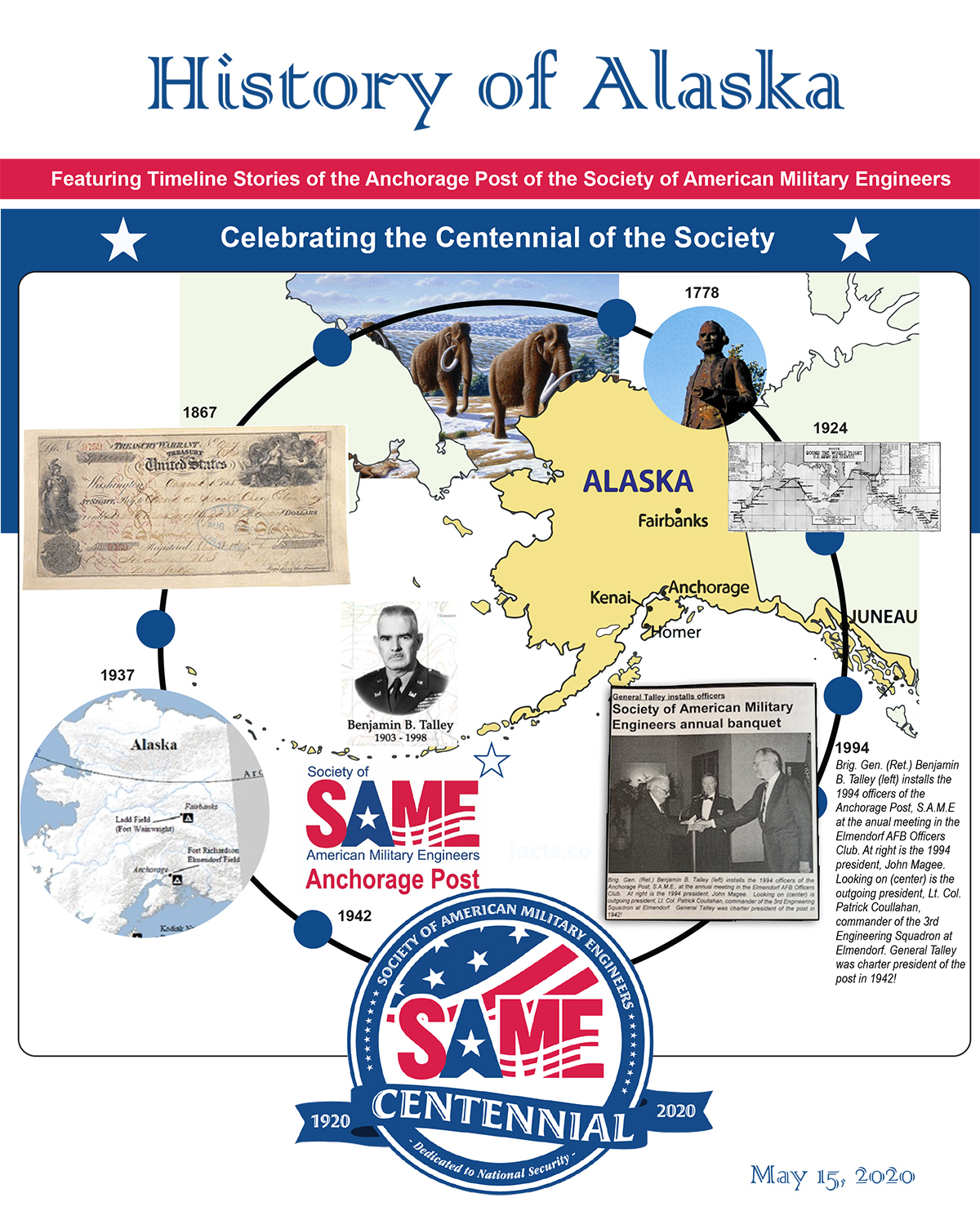 Timeline of Engineering in Alaska and the Society of American Military Engineers
