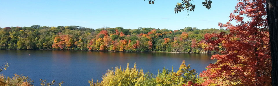 Mississippi River fall foliage