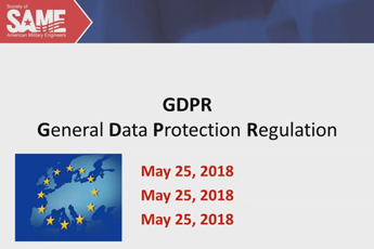 What is GDPR? What does it mean for SAME?