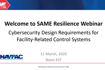 <p><strong>Cybersecurity Design Requirements for Facility-Related Control Systems</strong></p>