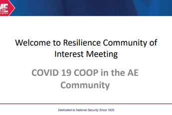 <p><strong>COVID 19 COOP in the AE Community</strong></p>