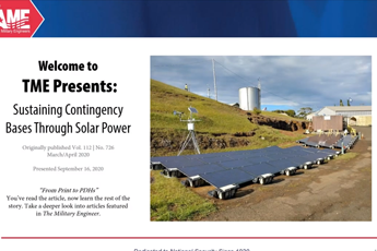 <p><strong>Sustaining Contingency Bases Through Solar Power</strong></p>