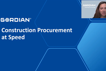 <p><strong>Construction Procurement at Speed</strong><br>Sponsored by Gordian</p>