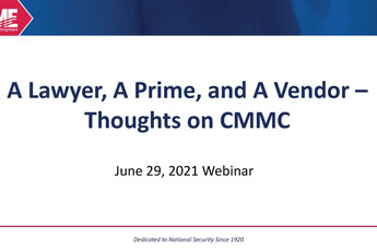 <p><strong>A Lawyer, A Prime, and A Vendor</strong><br />Thoughts on CMMC</p>