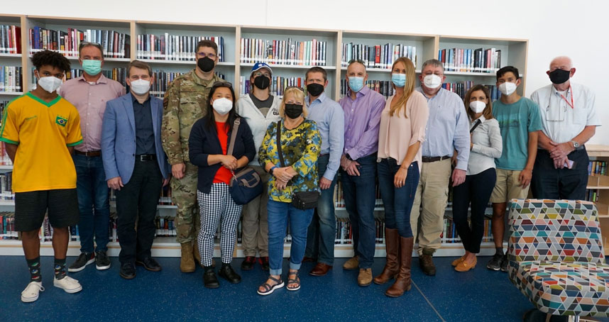 Ramstein High School construction project tour