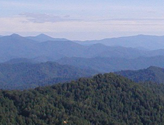 Blue Ridge mountains.